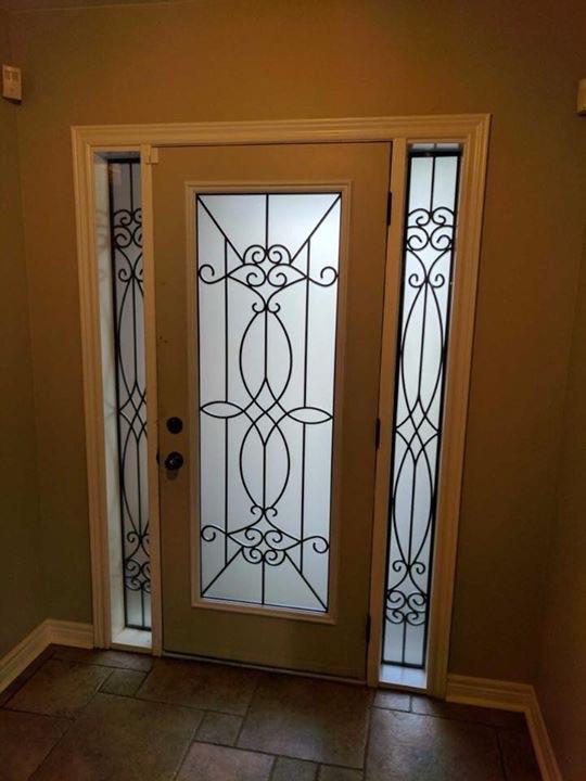 Blackburn-Wrought-Iron-Glass-Door-inserts-Stoney-Creek-Ontario