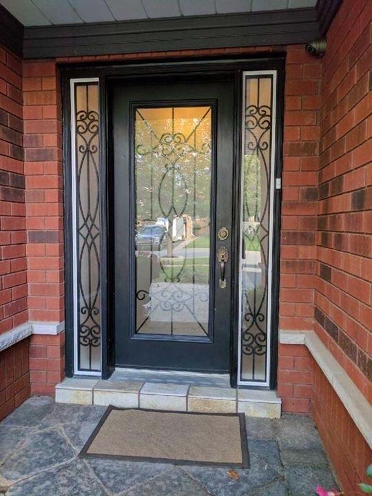 Blackburn-Wrought-Iron-Glass-Door-inserts-Milton-Ontario