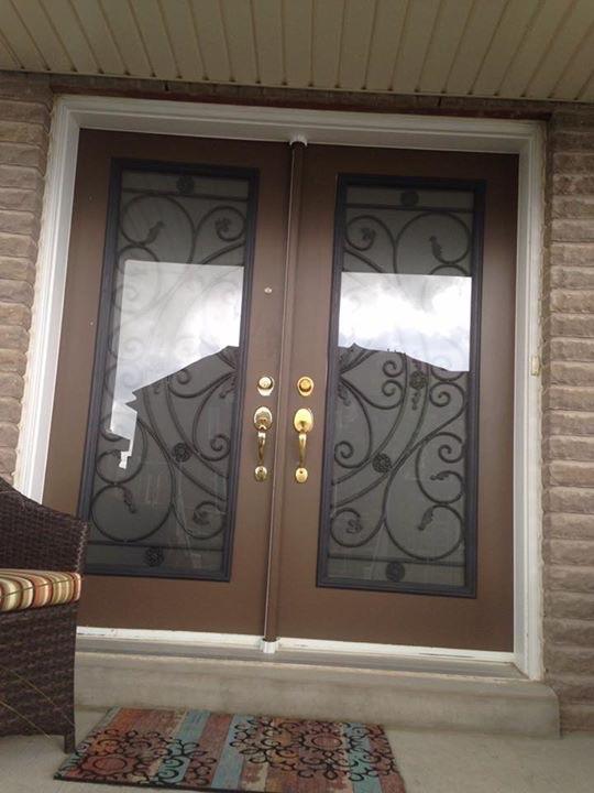 Campbellsford-Wrought-Iron-Glass-Door-Inserts-Ajax-Ontario