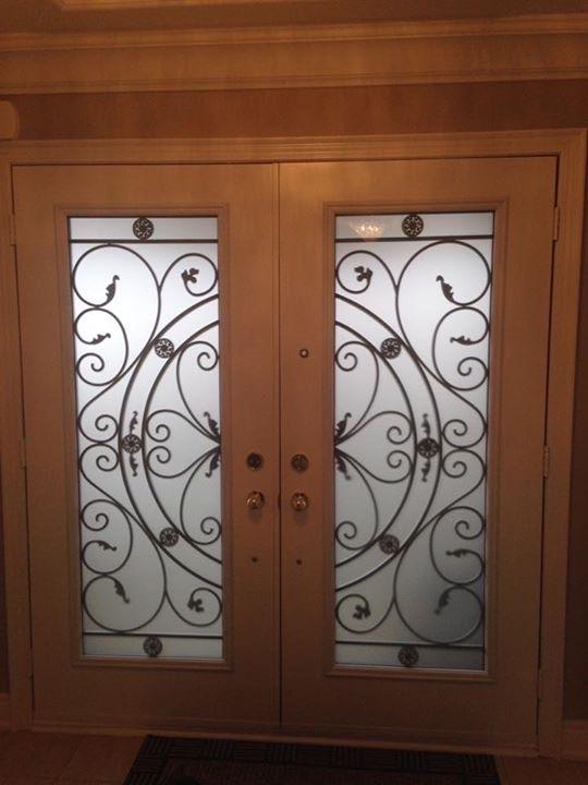 Campbellsford-Wrought-Iron-Glass-Door-Inserts-Oshawa-Ontario