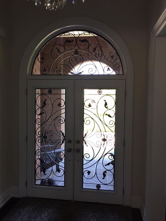 Campbellsford-Wrought-Iron-Glass-Door-Inserts-Bowmanville-Ontario
