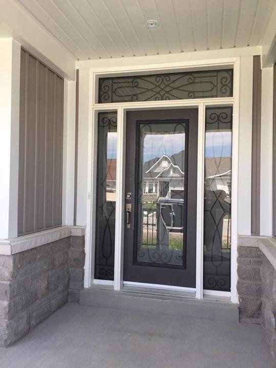 Nottingham-Wrought-Iron-Glass-Door-Inserts-Orillia-Ontario