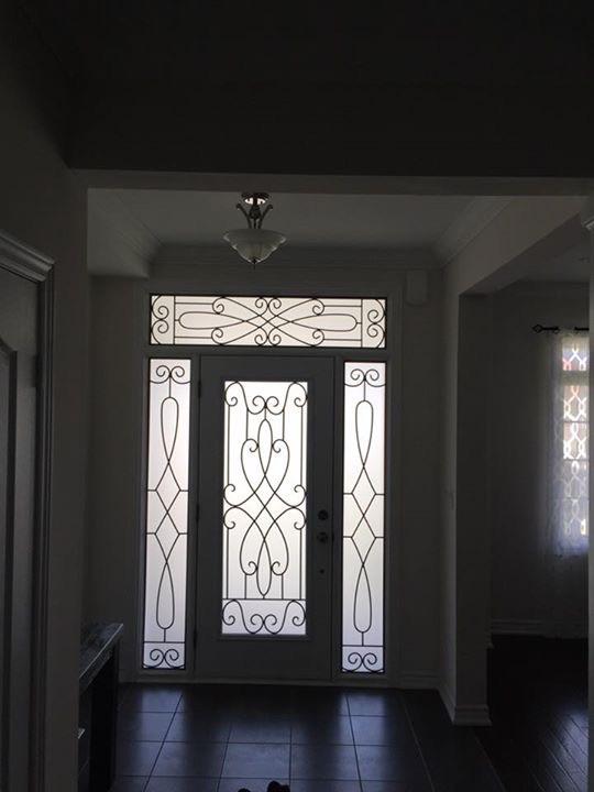 Nottingham-Wrought-Iron-Glass-Door-Inserts-Alliston-Ontario