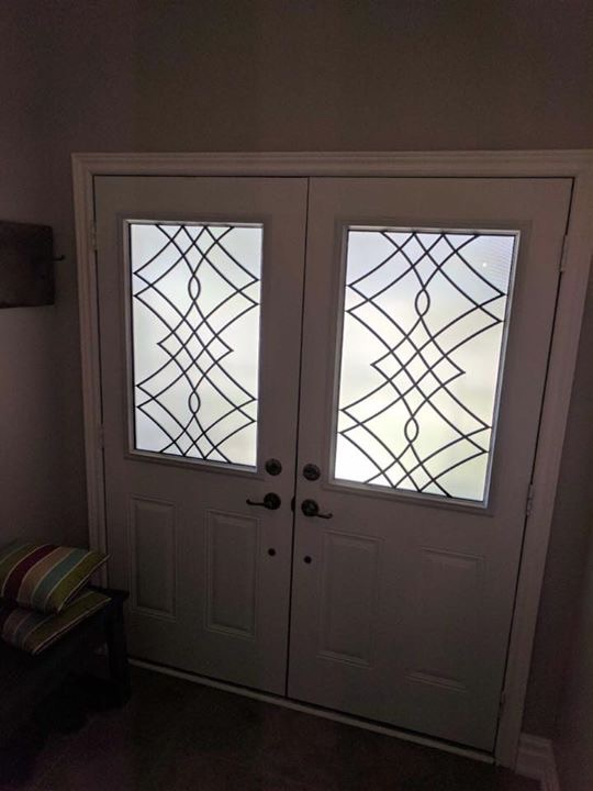 Oakridge-Wrought-Iron-Glass-Door-Inserts-Courtice-Ontario
