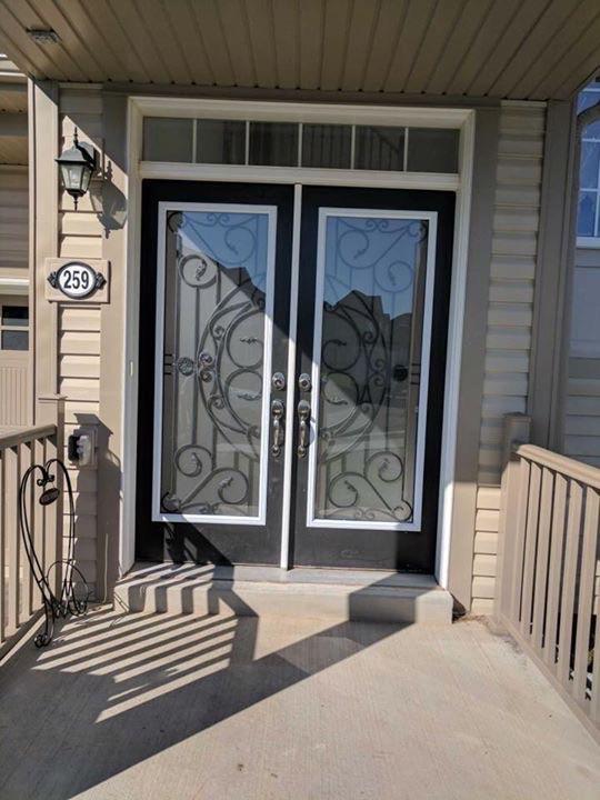 Rochester-Wrought-Iron-Glass-Door-Inserts-North-York-Ontario