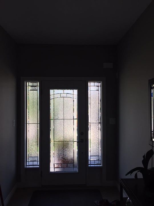 Ashbourne-Decorative-Glass-Door-inserts-installtion-Alliston-ontario
