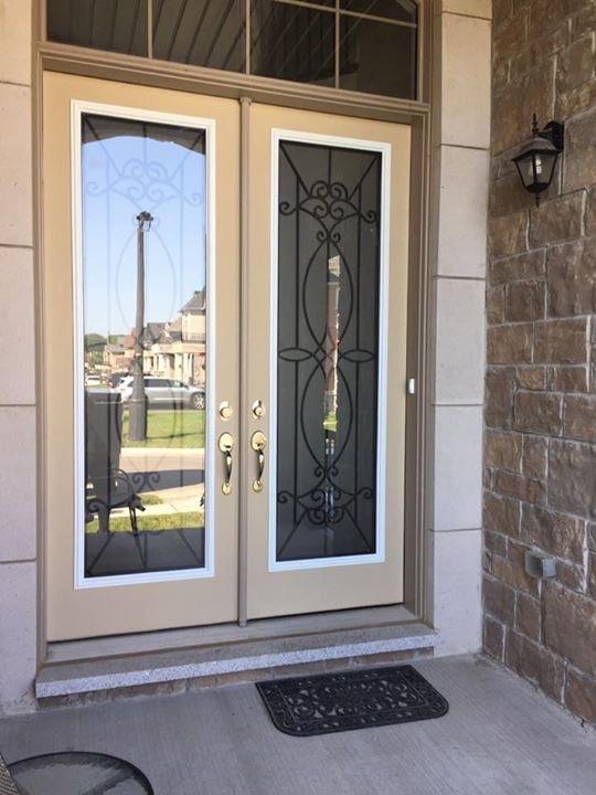 Blackburn-Wrought-Iron-Glass-Door-inserts-Brampton-Ontario
