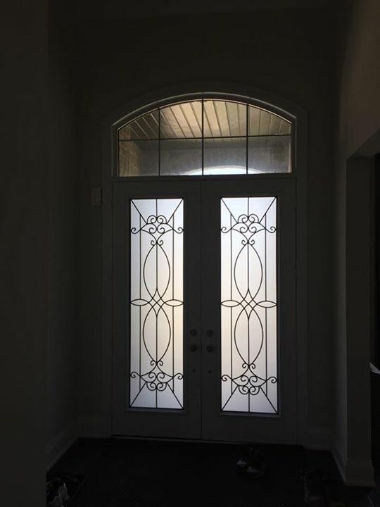 Blackburn-Wrought-Iron-Glass-Door-inserts-Orangeville-Ontario