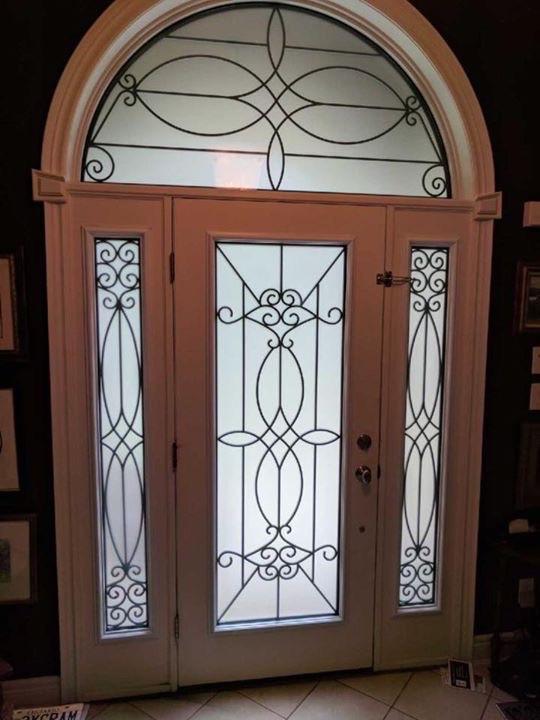 Blackburn-Wrought-Iron-Glass-Door-inserts-Ancaster-Ontario
