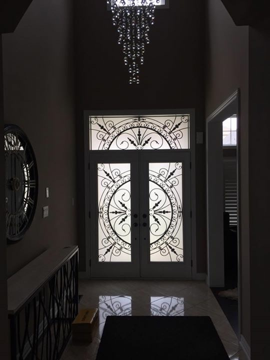 Chesterfield-wrought-Iron-Glass-Door-Inserts-Whitby-Ontario
