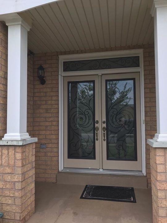 Port-Union-Wrought-Iron-Glass-Door-Inserts-Hamilton-Ontario