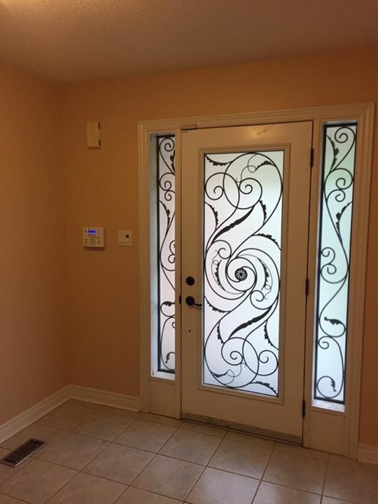 Port-Union-Wrought-Iron-Glass-Door-Inserts-Keswick-Ontario