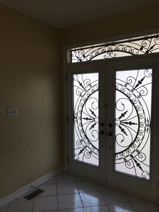 Chesterfield-wrought-Iron-Glass-Door-Inserts-Newmarket-Ontario