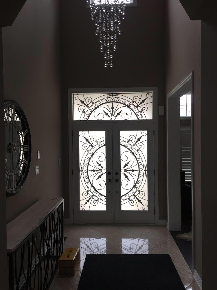 Chesterfield-wrought-Iron-Glass-Door-Inserts-Bradford-Ontario