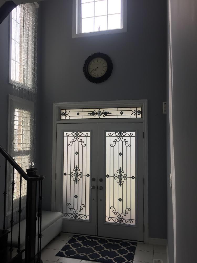 Dalmont-wrought-iron-glass-door-Inserts-Brampton-Ontario