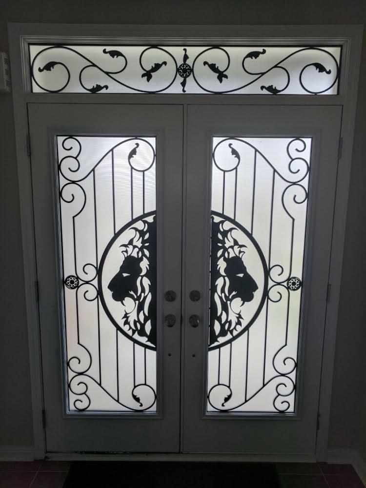 Thunder-Bay-Wrought-iron-Glass-Door-Inserts-Queensville-ontario