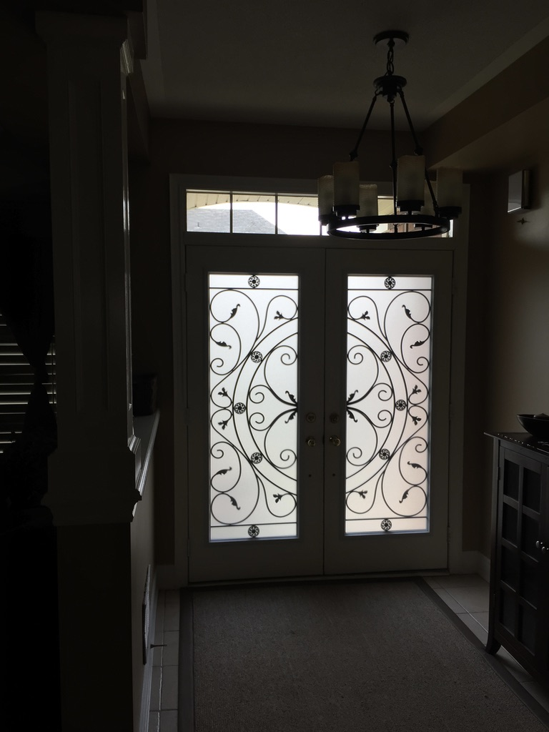 Campbellsford-Wrought-Iron-Glass-Door-Inserts-Barrie-Ontario