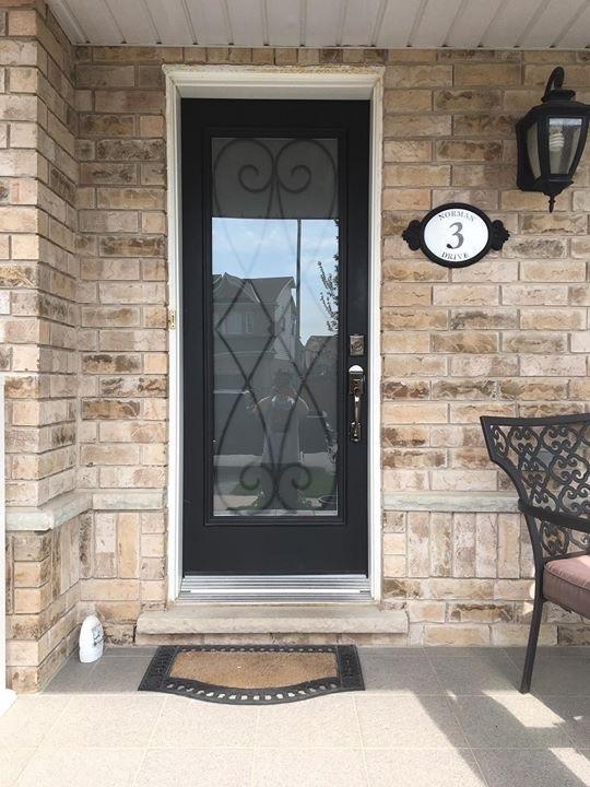 Beverly-Hills-Wrought-Iron-Glass-Door-Inserts-Barrie-Ontario