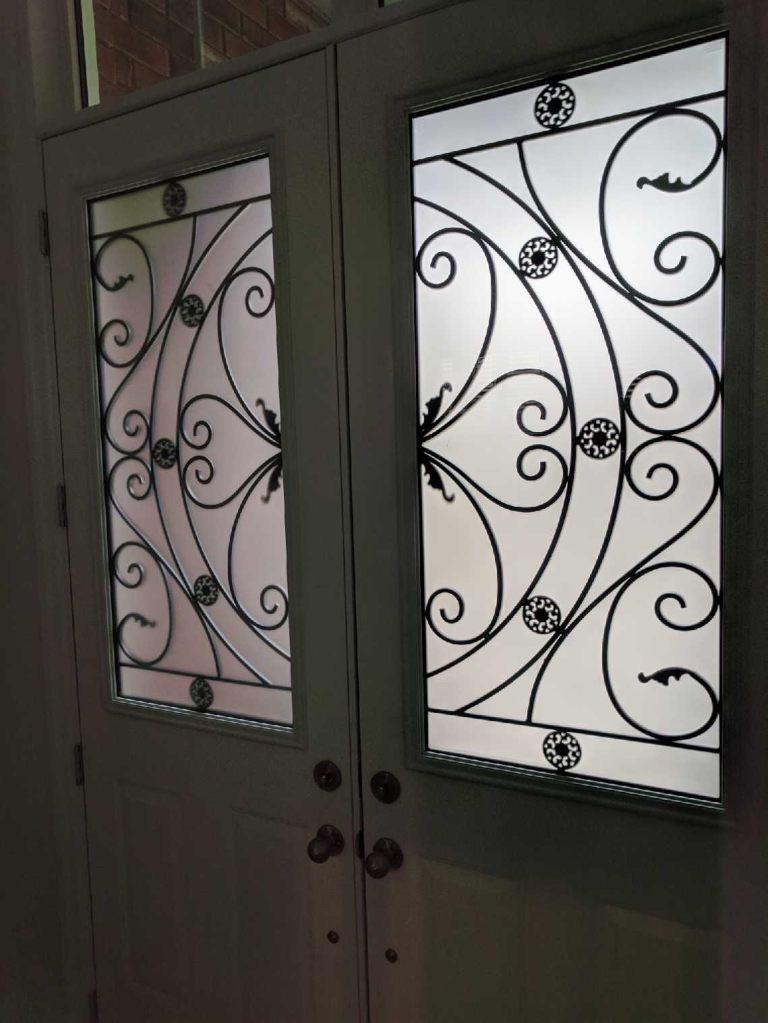 Campbellsford-Wrought-Iron-Glass-Door-Inserts-alliston-Ontario