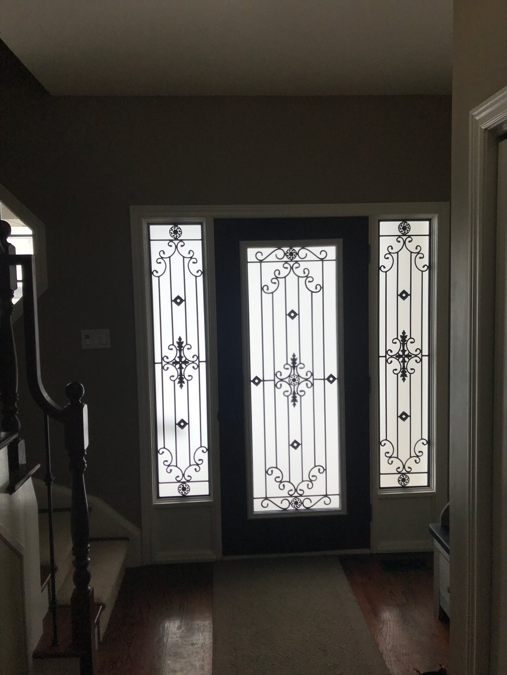 Dalmont-wrought-iron-glass-door-Inserts-Mississauga-Ontario