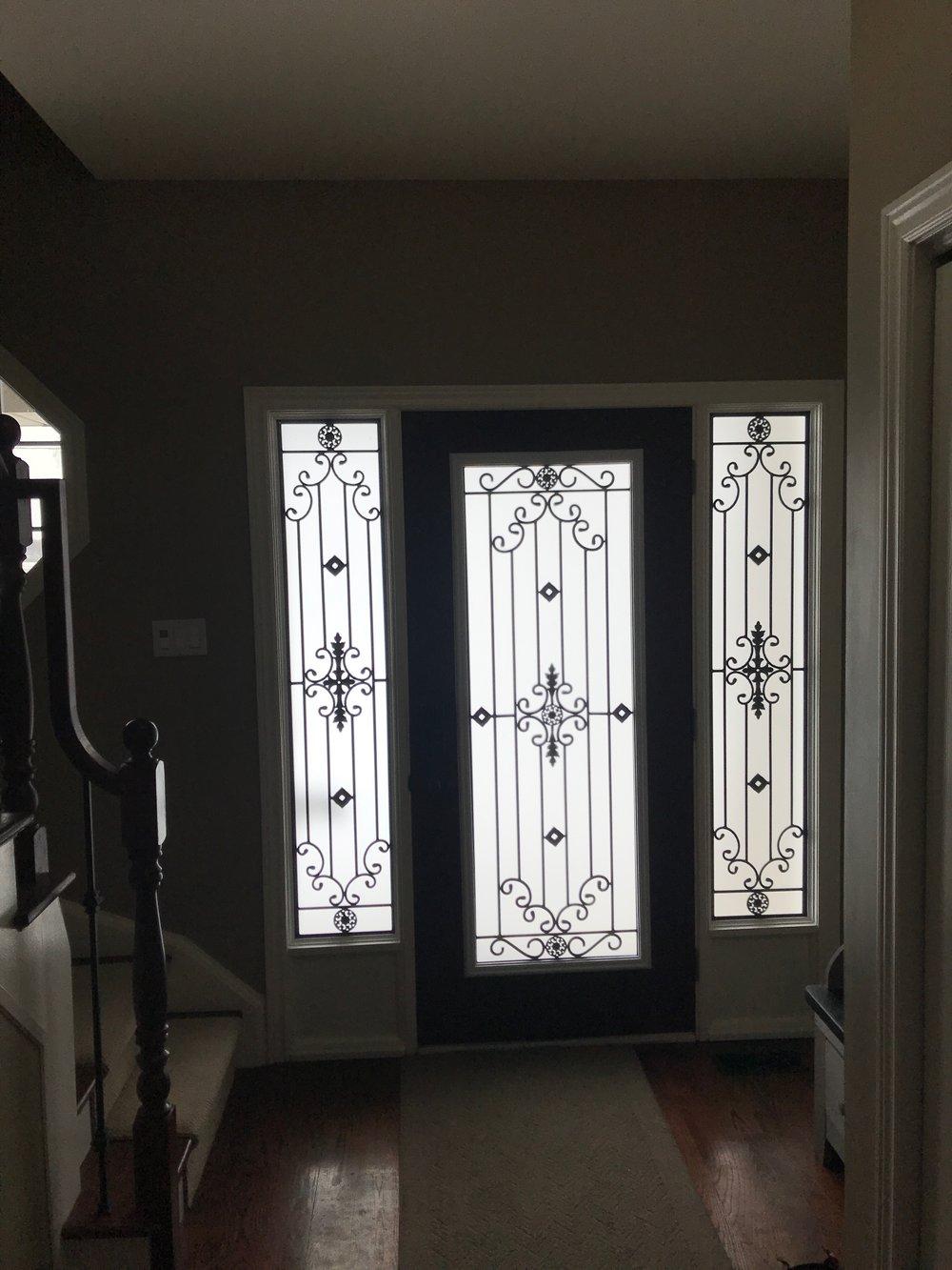 Dalmont-wrought-iron-glass-door-Inserts-Mississauga-Ontario