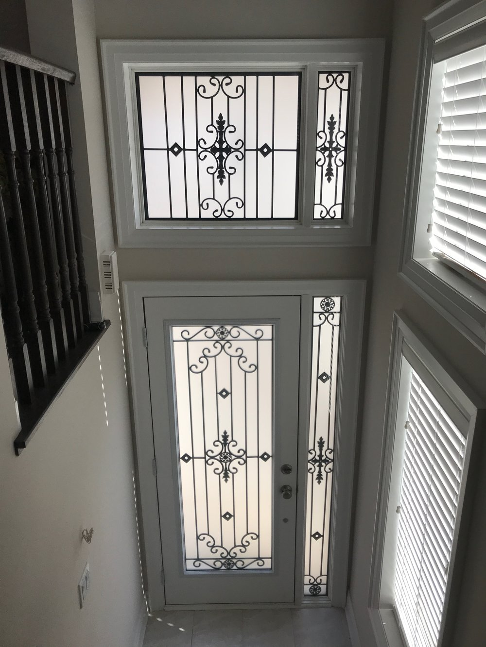 Dalmont-wrought-iron-glass-door-Inserts-Orangeville-Ontario
