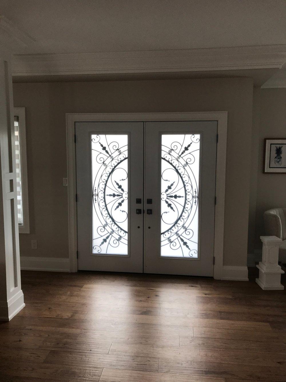 Chesterfield-wrought-Iron-Glass-Door-Inserts-Innisfil-Ontario