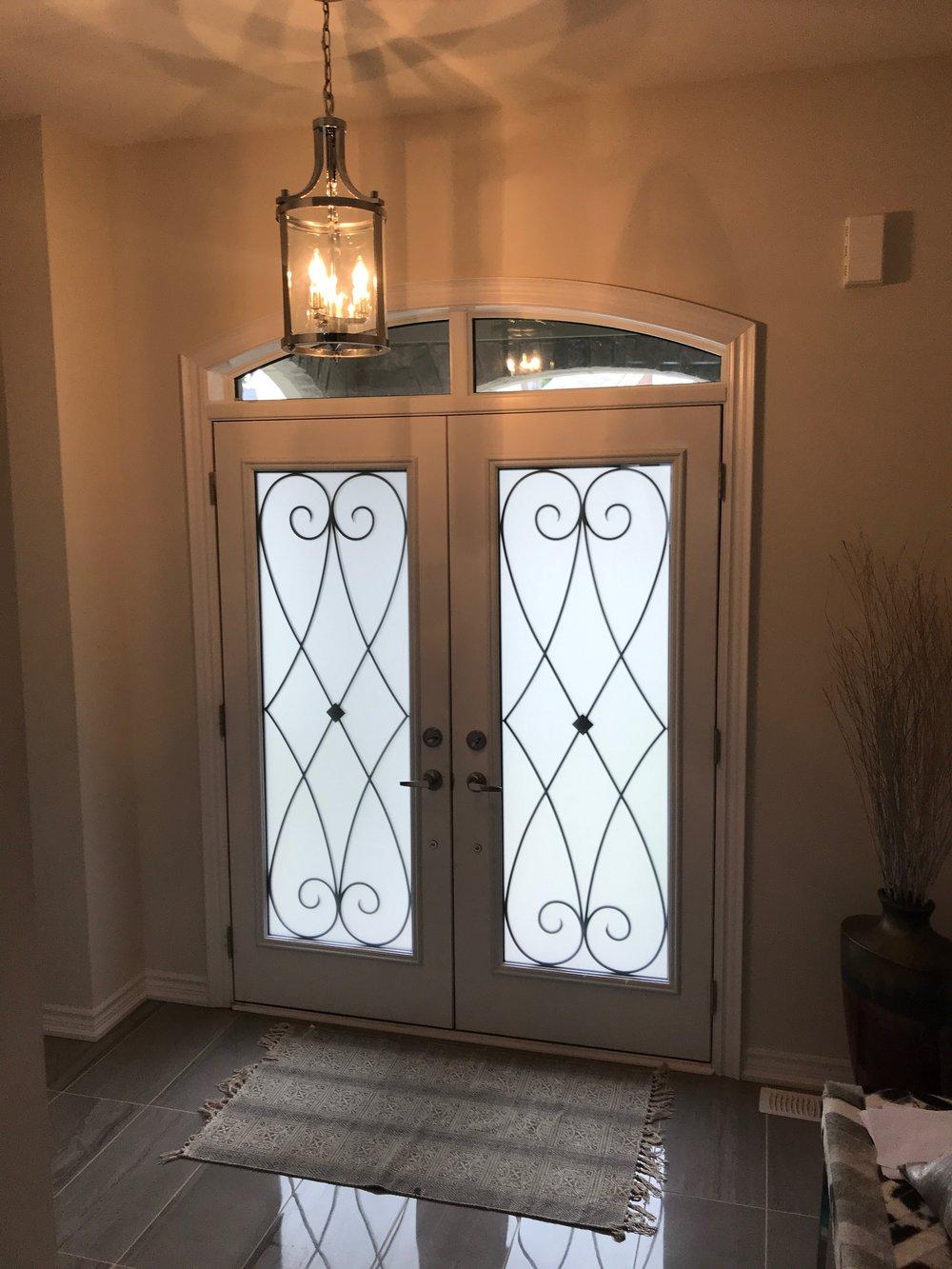 Beverly-Hills-Wrought-Iron-Glass-Door-Inserts-Milton-Ontario