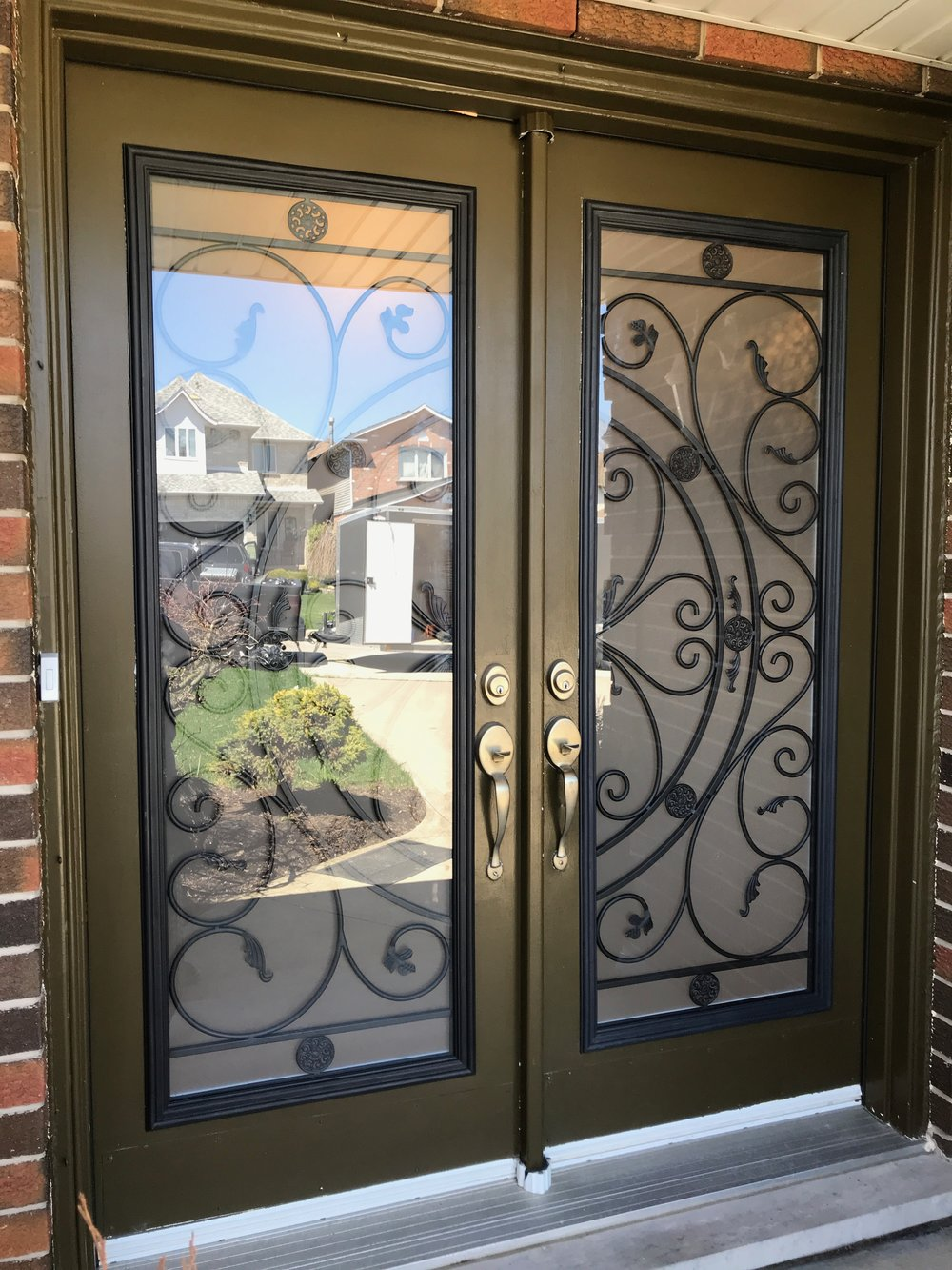 Campbellsford-Wrought-Iron-Glass-Door-Inserts-Bradford-Ontario