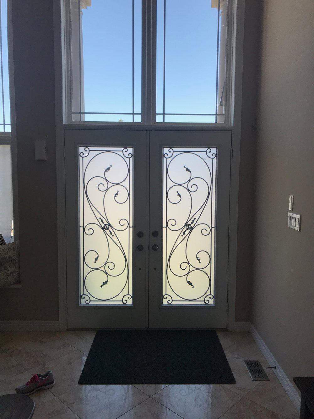 Flamingo-Bay-Wrought-Iron-Glass-Door-Inserts-Milton-Ontario