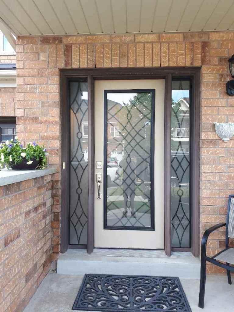 Oakridge-Wrought-Iron-Glass-Door-Inserts-Uxbridge-Ontario