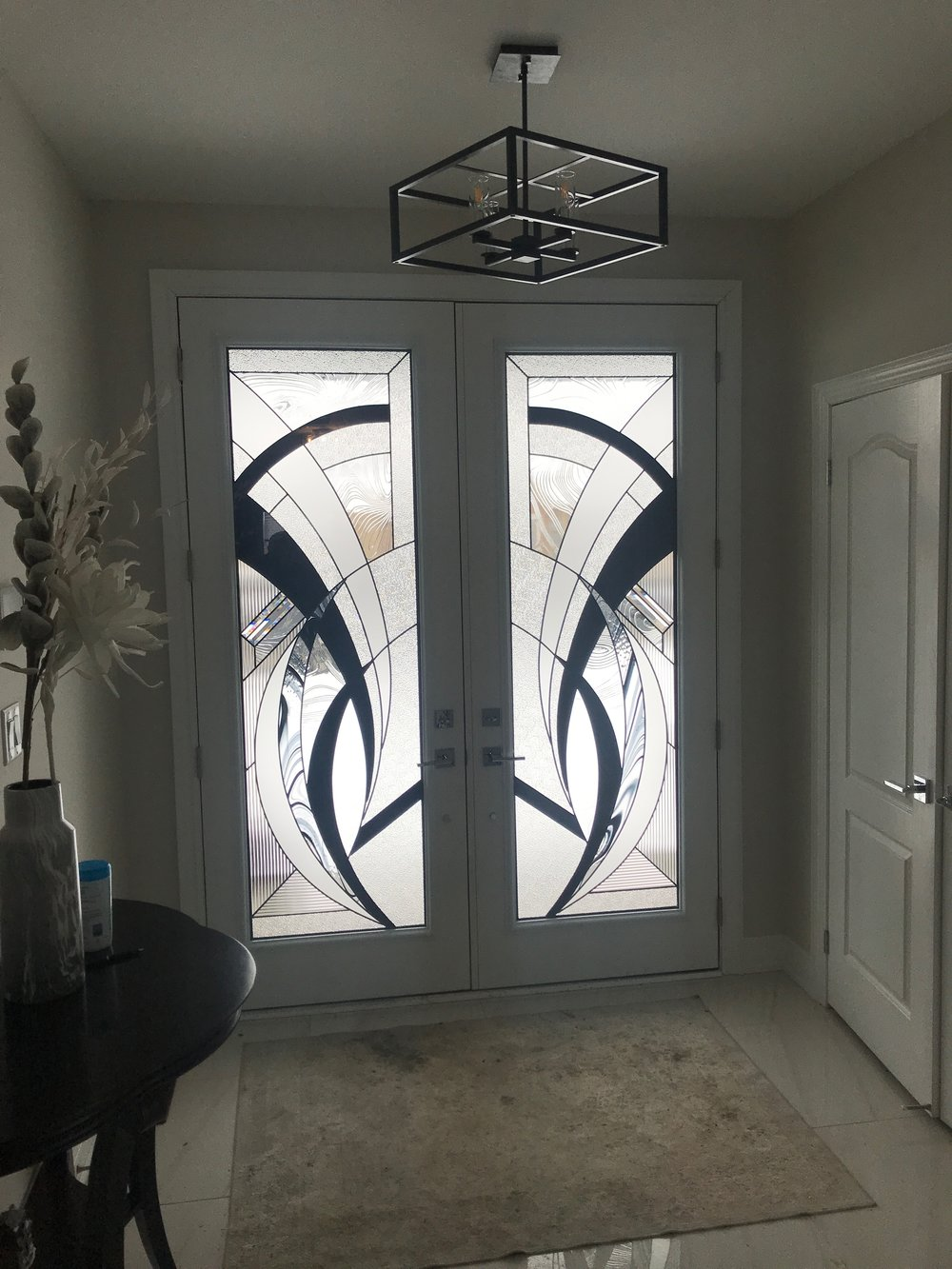 Atlas-decorative-glass-door-inserts-installation-Barrie-Onatrio