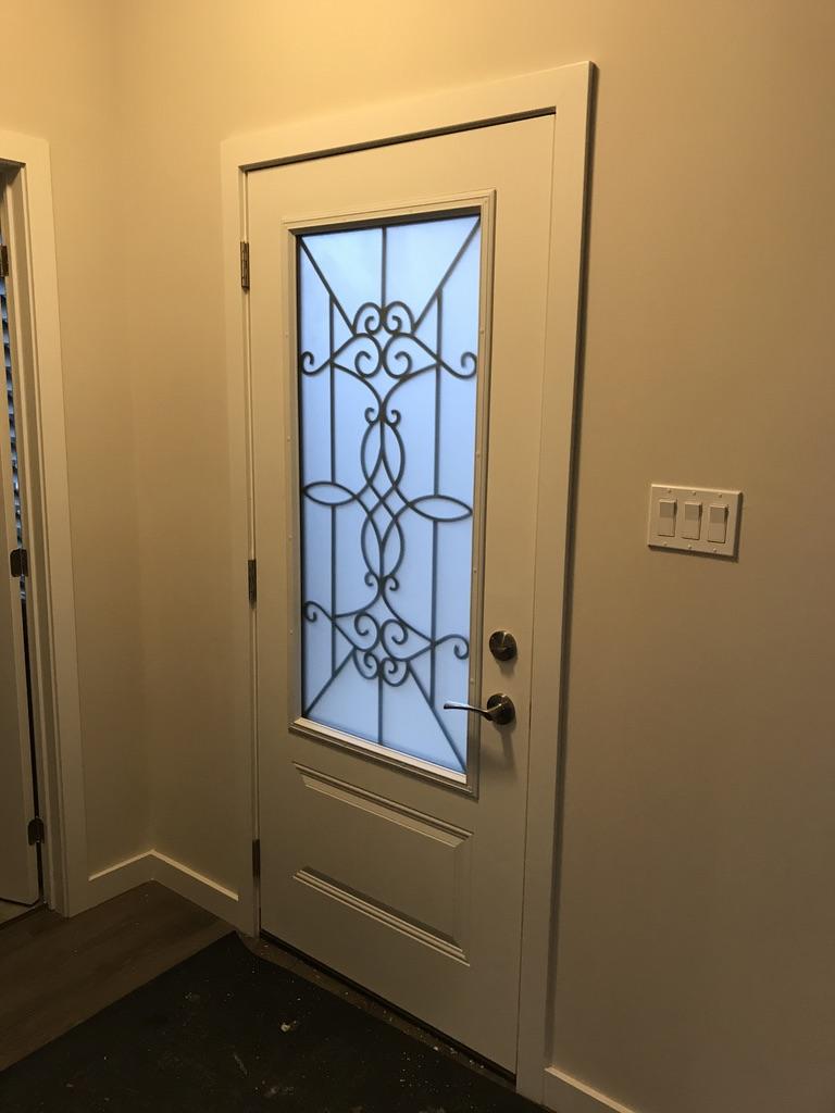 Blackburn-Wrought-Iron-Glass-Door-inserts-Collingwood-Ontario