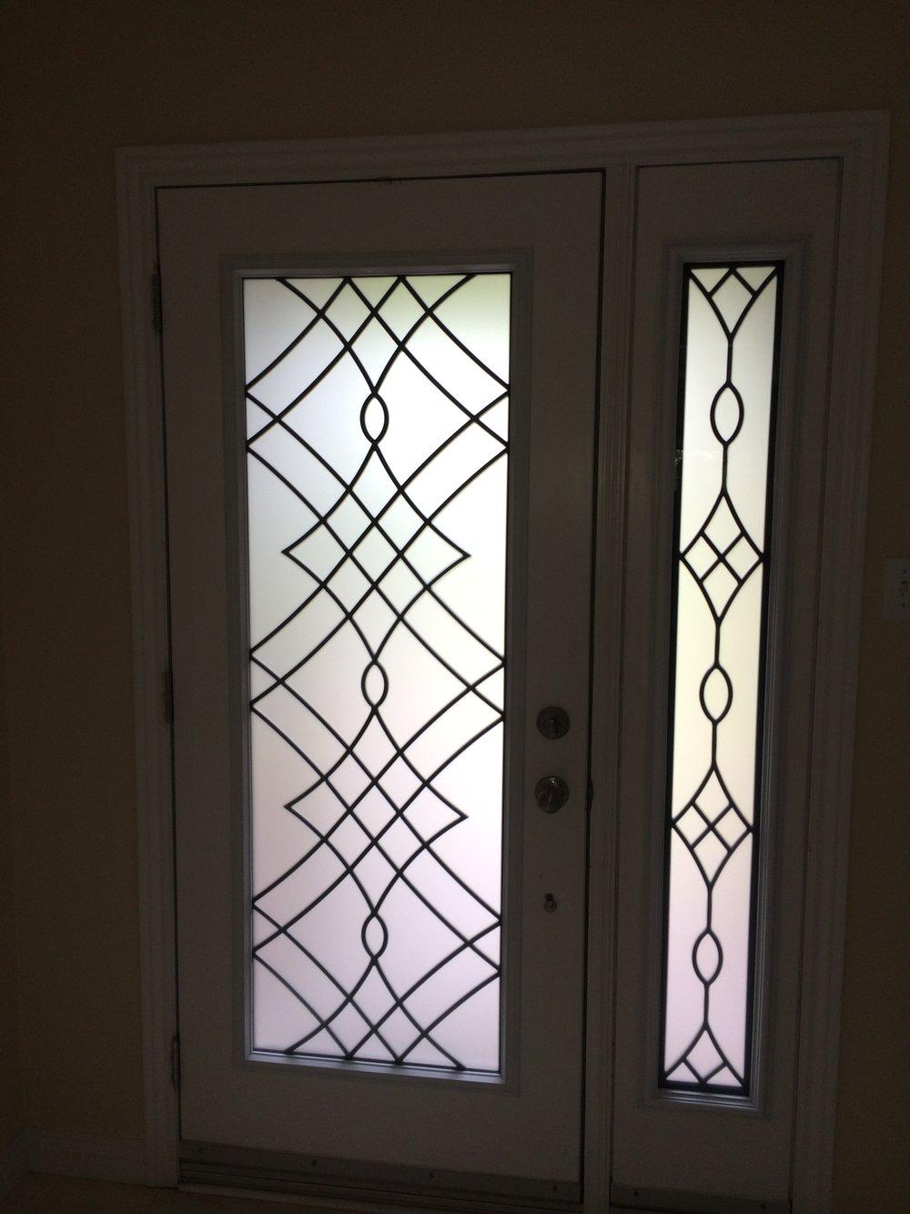 Oakridge-Wrought-Iron-Glass-Door-Inserts-Aurora-Ontario