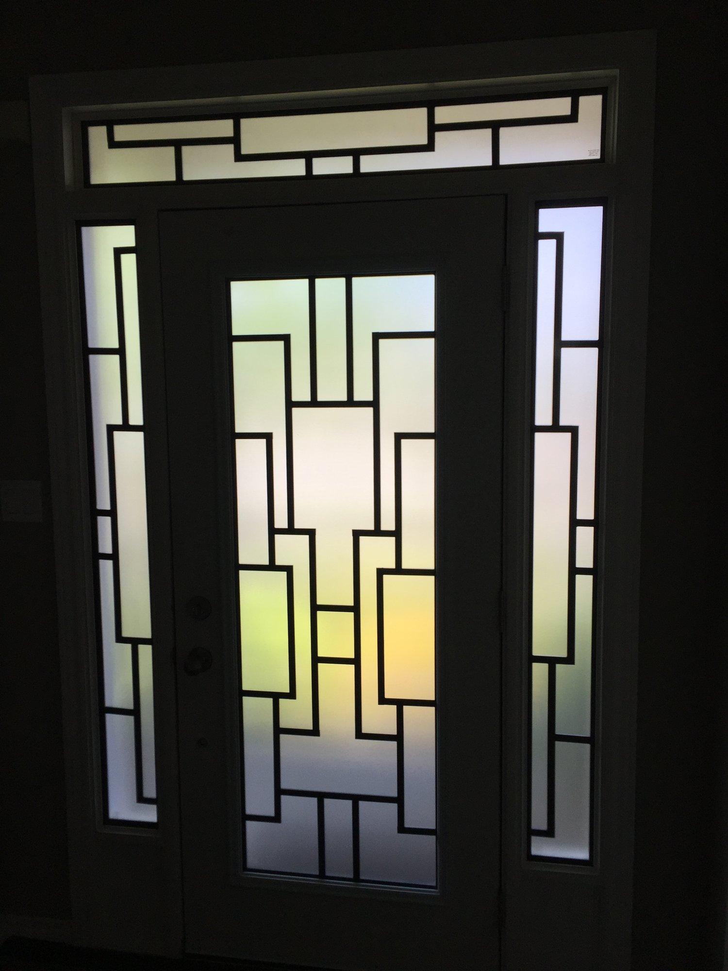 Distinctive Glass Inserts Wrought Iron Decorative Glass Inserts