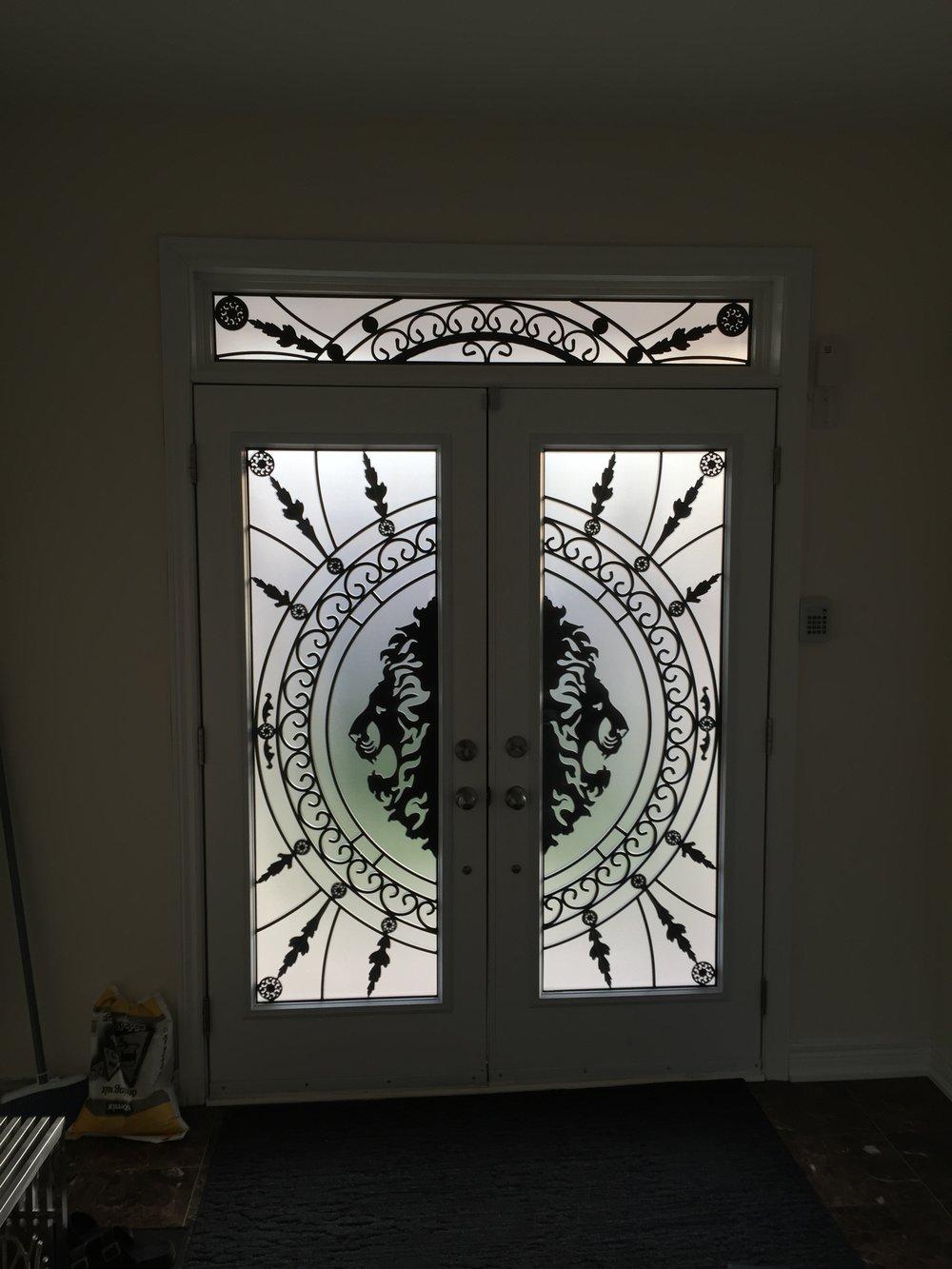 Forest-King-Wrought-Iron-Glass-Door-Inserts-Brampton-Ontario