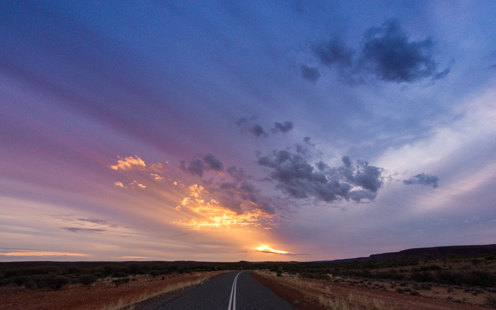 -On a stretch of road somewhere, Outback NT-  Michelle Lake ©