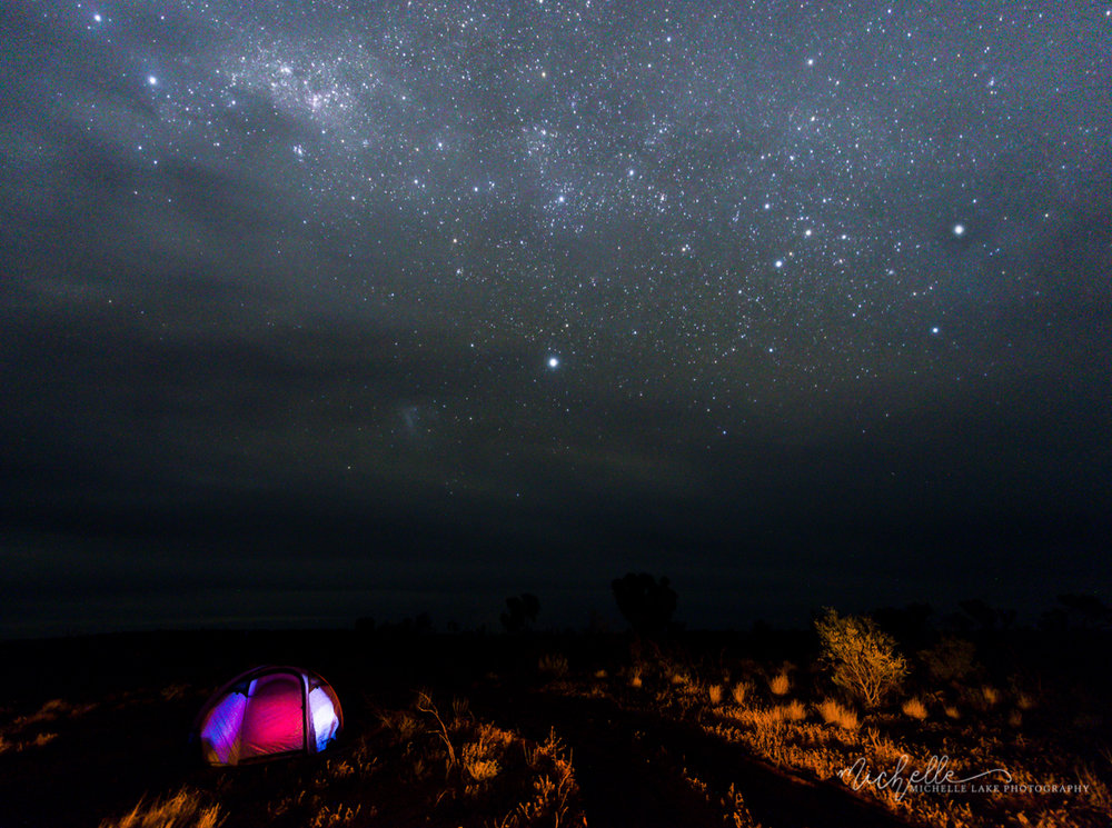 Camping underneath the stars, near Kings Canyon