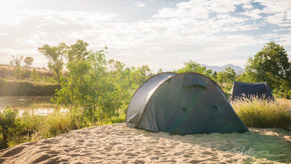 Camping on the Finke River