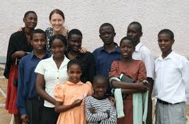 mindy with a group of kirabo students in 2011