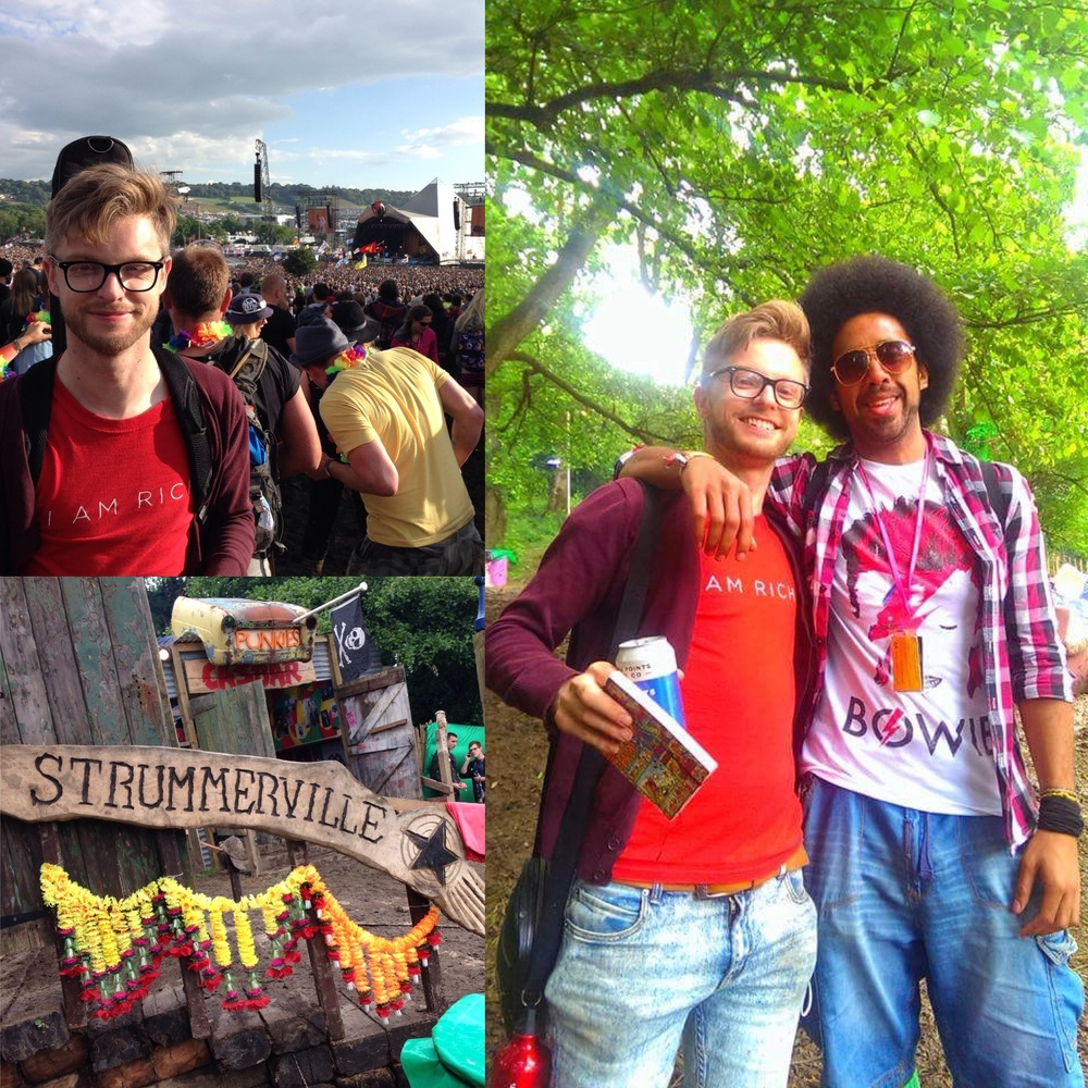 Trekking  to Strummerville via the Pyramid Stage for good times with friends old and new!