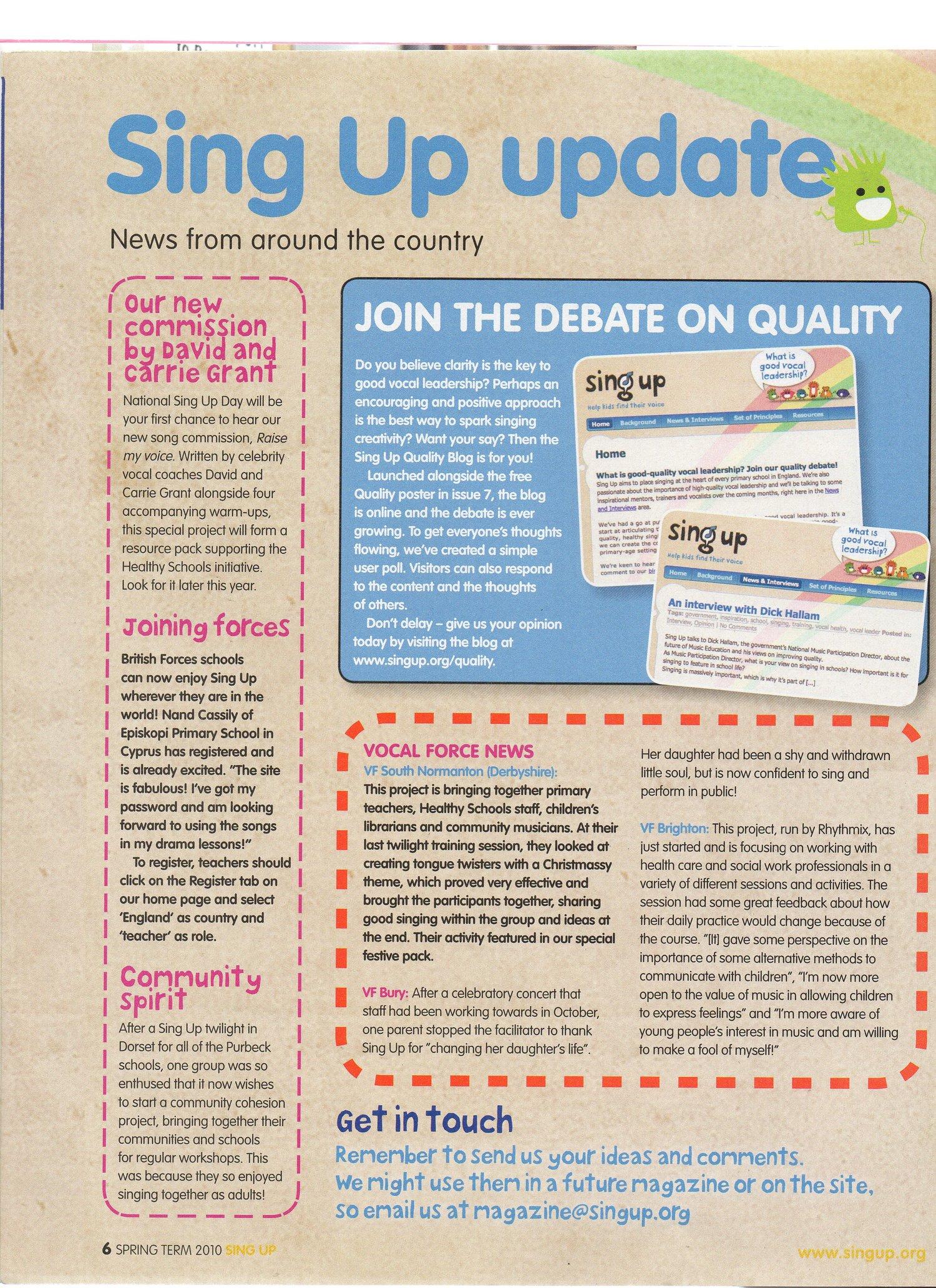 Sing Up Magazine  Issue 8  — RICH STEPHENSON