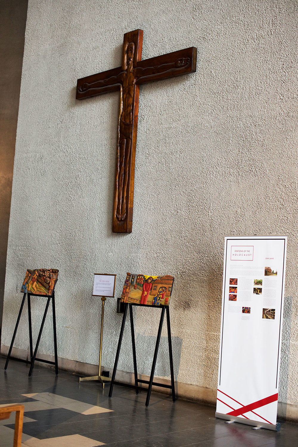 Beginning of Exhibition in Covenrty Cathedral with Stations I & II