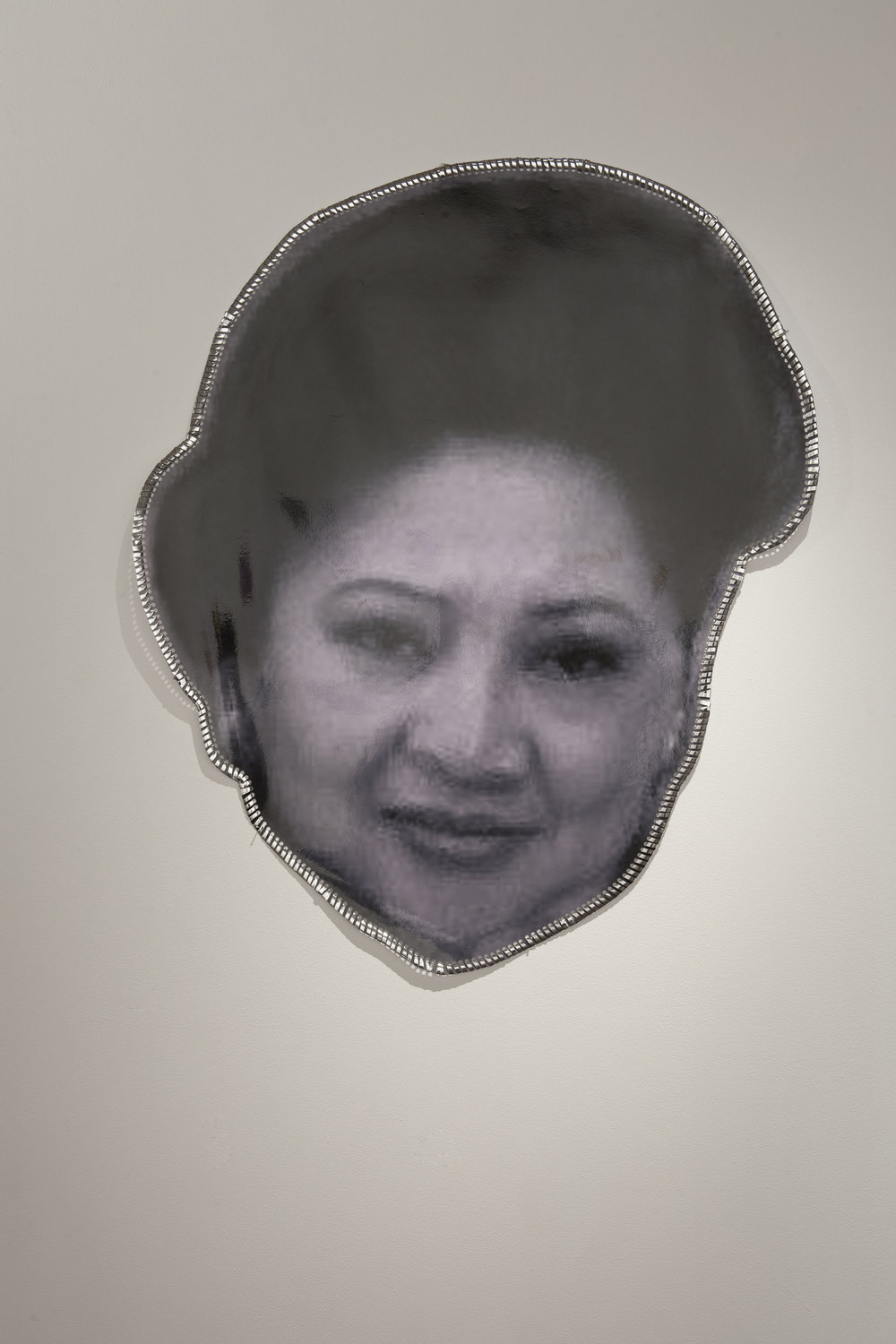 M.O.M. , 2011, digital composed and laminated photograph, installation view,  M.O.M. (Muse of Manila) , 2011, Firstdraft, Sydney. Photo: Charles Dennington. Copyright JD Reforma