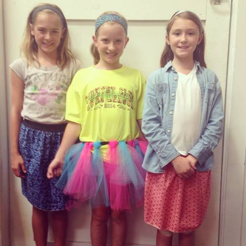 3 friends make skirts at a sewing party