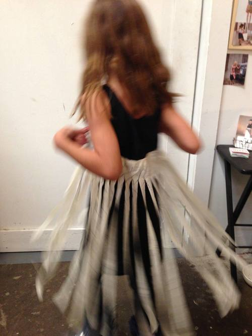 Twirly dress in action