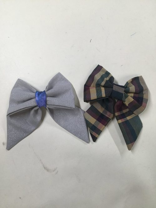 Hair bows with clips attached