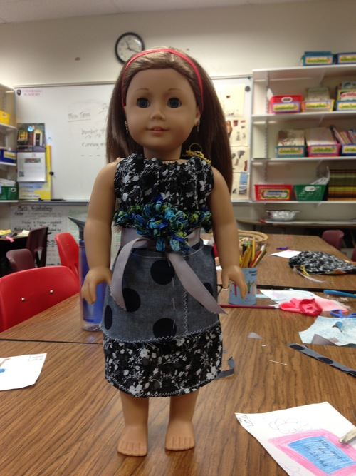 Dress and apron for doll