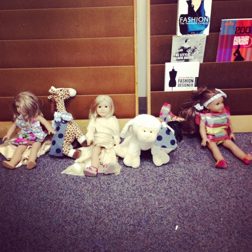Line-up of projects at Dolls and Dresses camp