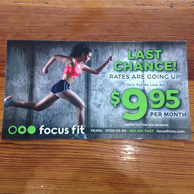 •STOP• what you're doing & come join Focus Fit!! Rates as low as $9.95 per month!!! 💪🏼😊💚